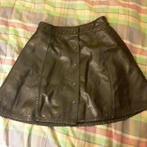 Nasty gal leather (faux) skirt.